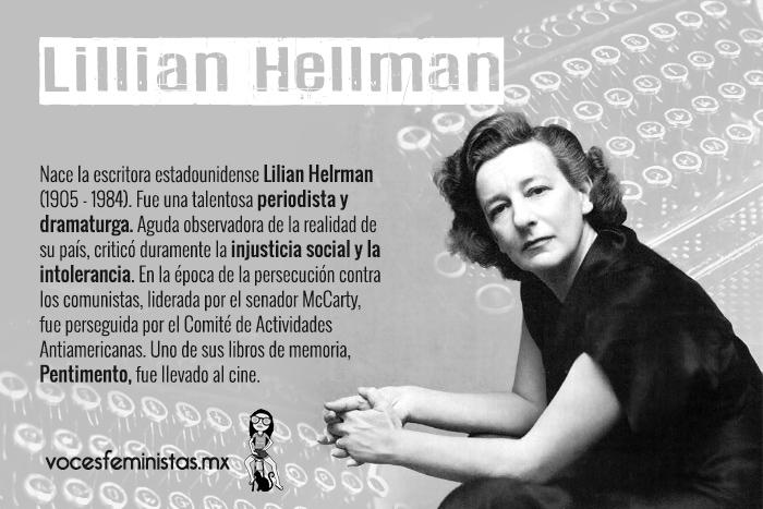 """Lillian Hellman, """"una mujer inacabada"""" que defendió su ..."""